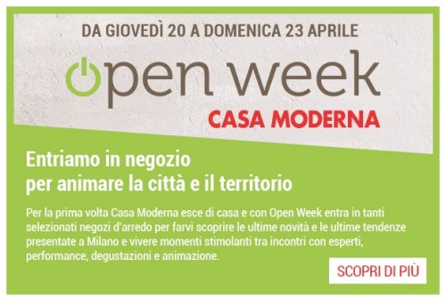 Open Week Casa Moderna 2017